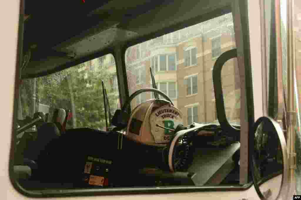 Кабина командира пожарного расчета