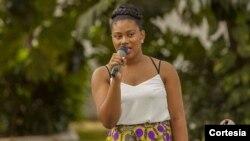 JGercileyk Guadalupe, secretária-geral do Conselho Nacional da Juventude de São Tomé e Príncipe
