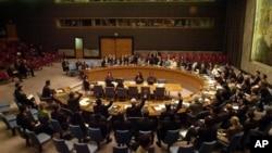 지난 2006년 10월 북한의 1차 핵실험 직후 대북 제재 결의를 논의한 유엔 안전보장이사회.