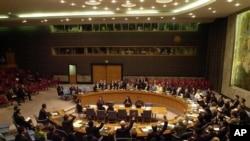 지난 2006년 10월 북한의 1차 핵실험 직후 대북 제재 결의를 논의한 유엔 안전보장이사회(자료사진).