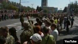 «Марш пленных» в Донецке 24 августа 2014