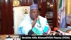 Gwamnan jihar Borno Ibrahim Shettima a Maiduguri, Mayu 22, 2014. (File Photo)