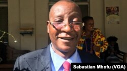 Ziyambi Ziyambi, shown in July 2017, is a parliament member of the ruling Zanu PF party. He says he sees nothing wrong with the new law that allows President Robert Mugabe to handpick Zimbabwe's top judges.