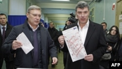 Слева направо: Михаил Касьянов, Борис Немцов