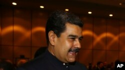 El presidente de Venezuela, Nicolás Maduro, fue recibido por el presidente turco, Recep Tayyip Erdogan, el 13 de diciembre de 2017.