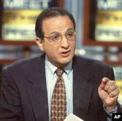 Arab American Institute founder James Zogby appearing on the NBC Sunday television news program, 'Meet the Press.'