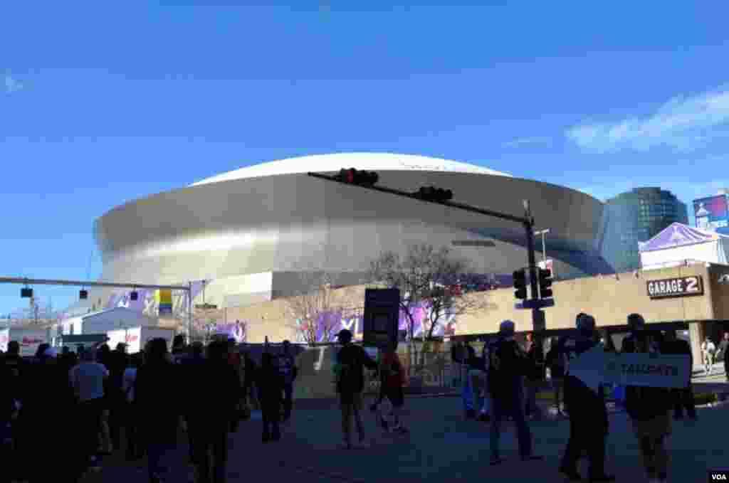 El Superdome de Nueva Orleans, escenario del Super Tazon 47.