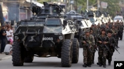 Binh sĩ Philippines tại thành phố Zamboanga.