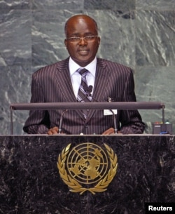 Gervais Rufyikiri, Second Vice-President of Burundi, speaks during the Millennium Development Goals Summit at United Nations headquarters in New York on September 20, 2010.