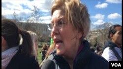 Senator Elizabeth Warren daya daga cikin wadanda suka gabatar da kudurin yin Allah wadai da kungiyar Boko Haram
