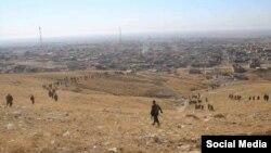 پیشمرگه های کرد عراقی در منطقه سنجار - آرشیو
