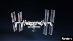 Stasiun Antariksa Internasional diabadikan oleh kru Expedition 56 dari wahana antariksa Soyuz.