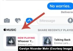 iMessage Share Music