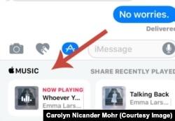 iMessage Share Music