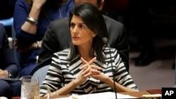美國常駐聯合國代表妮基·黑利