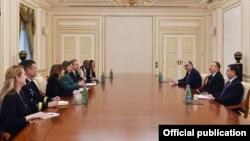 ABŞ dövlət katibinin köməkçisi Viktoriya Nuland prezident İlham Əliyevlə görüşür