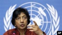 联合国人权事务高级专员皮莱(资料照片)