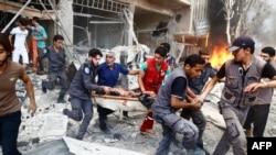 دوما، سوریه - ۲۷ ژوئیه ۲۰۱۵