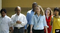 Many foreign students, like these at Infosys Technologies, in Bangalore, India are shopping their skills abroad.