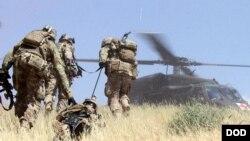 امریکايي عسکر په افغانستان کې