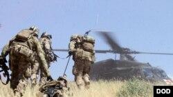 سهربازانی ئهمهریکا له ئهفغانستان