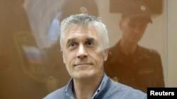 Michael Calvey, pendiri Baring Vostok di pengadilan Moskow, Rusia, 15 Februari 2019. (Foto: dok).