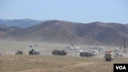上合組織2012年6月在塔吉克軍演 (資料圖片)
