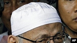 Radical Islamic cleric Abu Bakar Bashir was arrested in August 2010 for allegedly helping set up and fund a new terror cell that was plotting high-profile assassinations and deadly attacks on foreigners, (File)