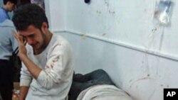 정부군 포격으로 인한 홈즈 시 부상자들