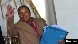 Christiane Taubira à l'Elysée, le 12 mars 2014. (REUTERS/Philippe Wojazer)