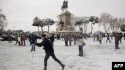 Мороз против Европы