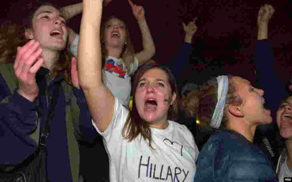 Предвыборная ночь у Белого дома