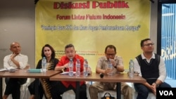 """Diskusi bertajuk """"Pemimpin Baru KPK dan Masa Depan Pemberantasan Korupsi"""" di Jakarta, Rabu (18/12) (Foto: VOA/Fathiyah)."""