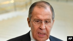 Sergey Lavrov, Minis Afè Etranjè Larisi a. (Foto: 27 mas 2018).