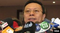 陸委會主委王郁琦(美國之音申華拍攝)