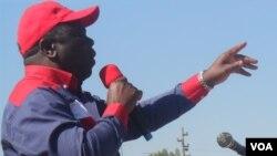 Prime Minister Morgan Tsvangirai addressing people in Chegutu, Mashonaland West Province on Saturday