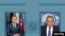 Azərbaycan xarici işlər naziriCeyhun Bayramov və Rusiya xarici işlər naziri Sergey Lavrov