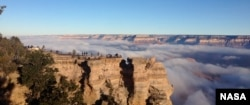 Fog at the Grand Canyon