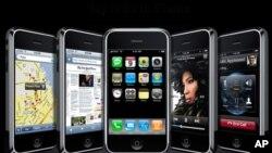 '멀티터치' (두손가락으로 화면을 조작하는 방식)에 대한 특허를 획득한 애플사의 아이폰