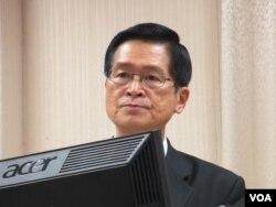 台灣國防部長嚴德發( 美國之音張永泰拍攝)