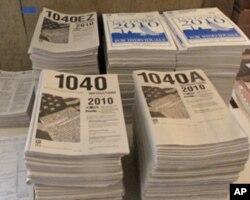 2010年报税表及指南
