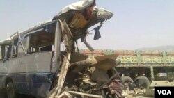 محل وقوع حادثه ترافيکى در شاهراى تورخم - جلالل آباد