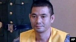 지난 해 10월 자국 선원 13명을 살해한 혐의를 받고 있는 버마의 나오칸. (자료사진)
