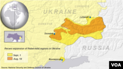 Expansion of rebel-held regions in Ukraine