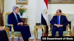 克里国务卿会晤埃及总统塞西