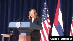 Josefina Vidal, diplomat tertinggi Havana urusan Amerika Serikat.