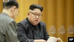 朝鲜领导人金正恩召开会议。(资料照片)