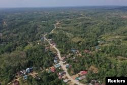 Pemandangan kecamatan Sepaku di Kabupaten Penajam Paser Utara, Kalimantan Timur, 28 Agustus 2019. (Foto: Antara via Reuters)