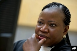 FILE - The ICC prosecutors office, headed by Fatou Bensouda, above, says it will decide soon whether to pursue a full investigation of possible war crimes committed by U.S. forces in Afghanistan in 2003 and 2004.
