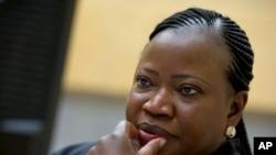 La procureure de la Cour pénale internationale Fatou Bensouda, à lL Haye, 27 novembre 2013.